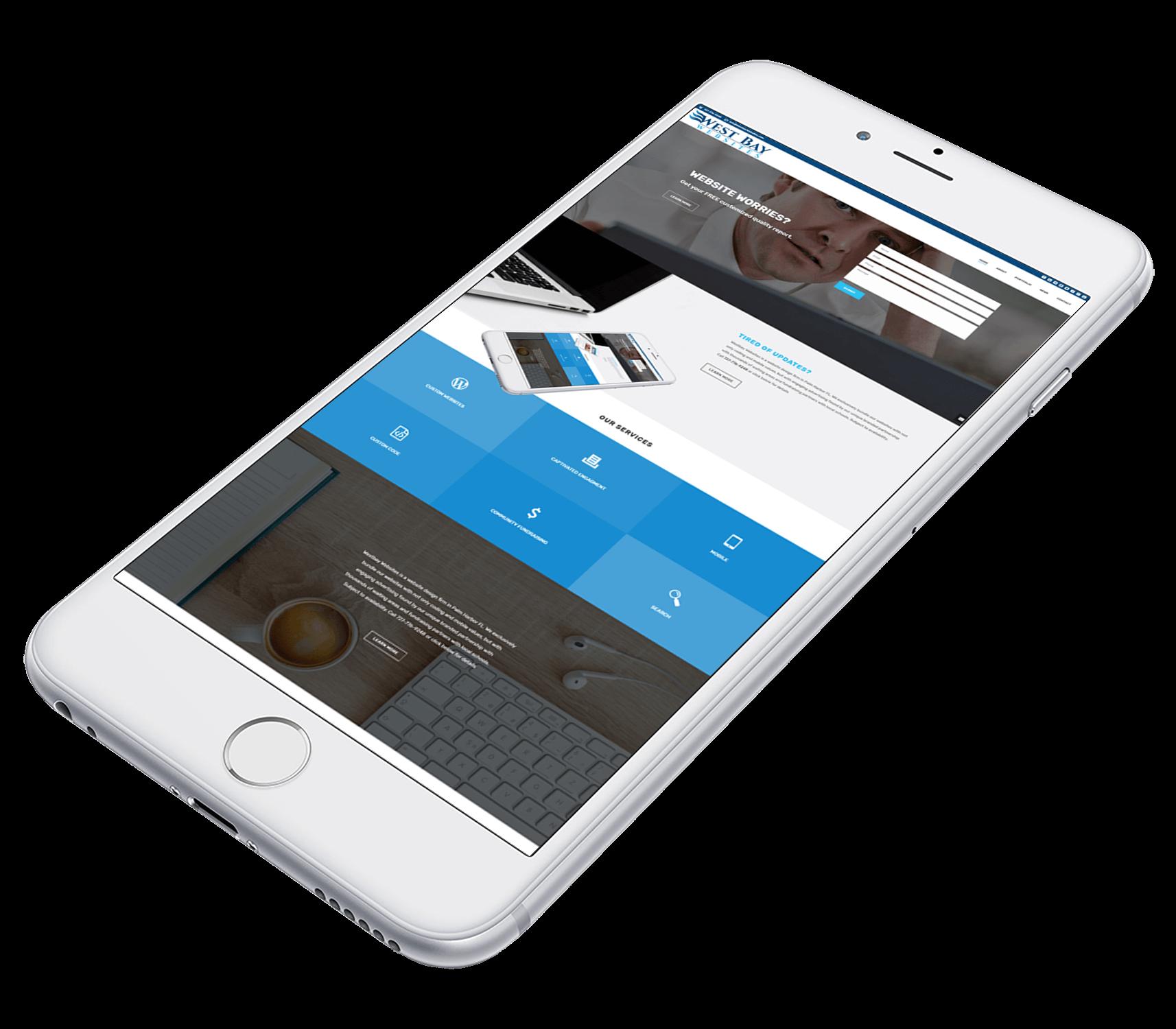 a mobile website design example